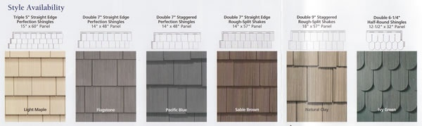A wide variety of styles are available for your vinyl siding. It can look like cedar shakes or practically any look you want!
