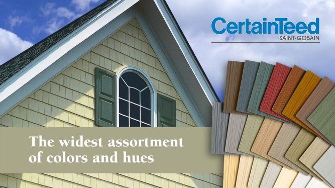 color coordinated siding by certainteed